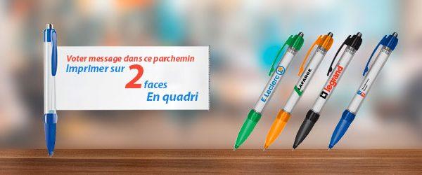 Un stylo bannière : l'outil pratique professionnel